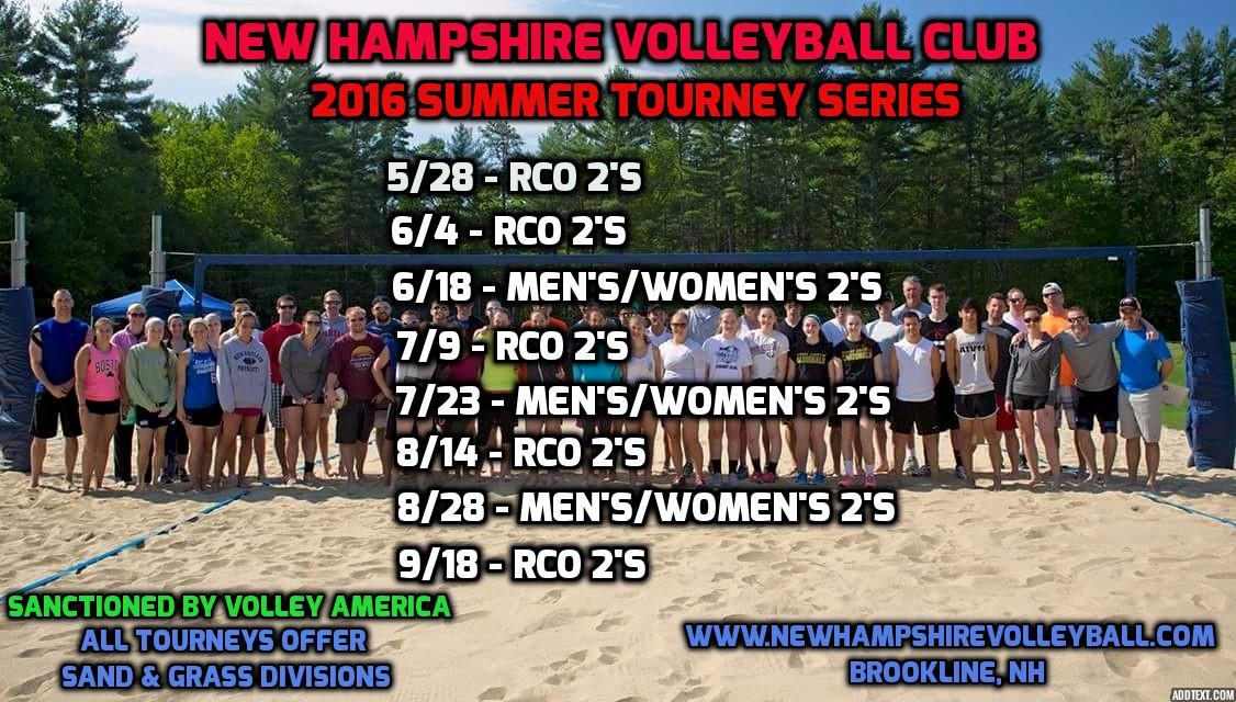NHVBC Tourney Schedule